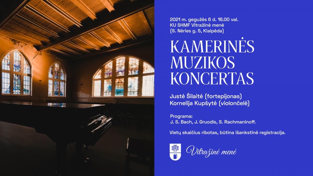 Renginio nuotrauka, Kamerinės muzikos koncertas (fortepijonas ir violončelė)