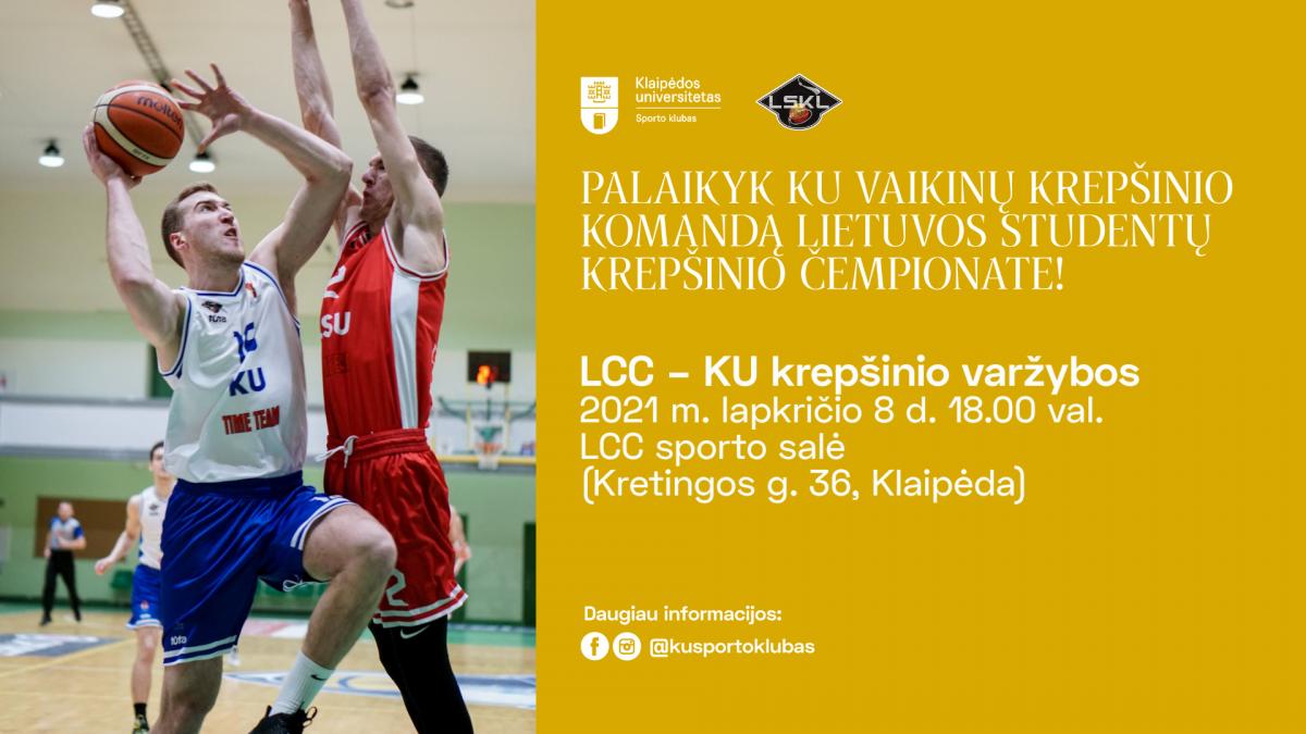 Renginio nuotrauka, LCC vs. KU | Lietuvos studentų krepšinio lygos čempionatas