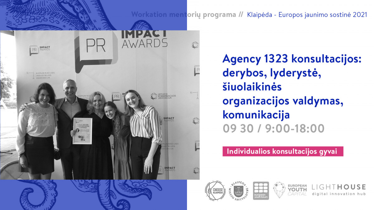 Renginio nuotrauka, Agency 1323 konsultacijos: derybos, lyderystė, šiuolaikinės organizacijos valdymas, komunikacija