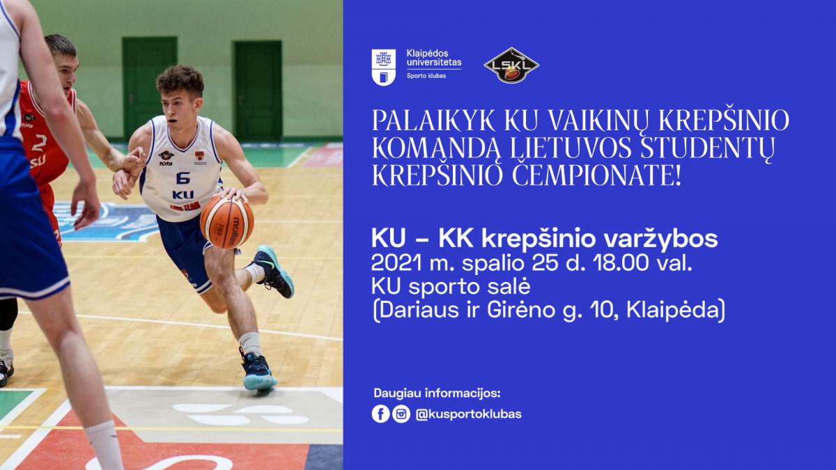 KU vs. KK | Lietuvos studentų krepšinio lygos čempionatas