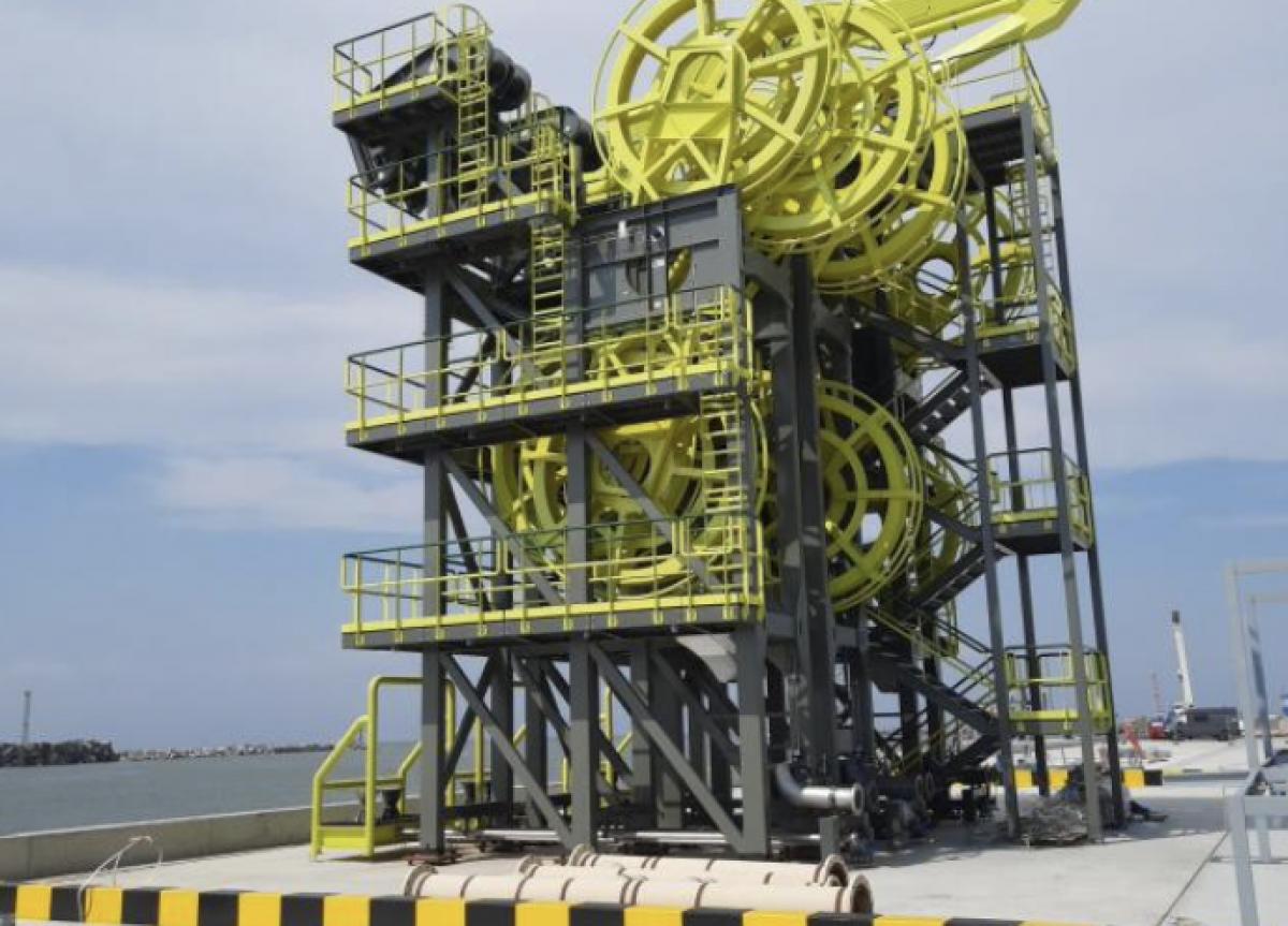 Klaipėdos uoste – unikali jūrinė krovos įranga