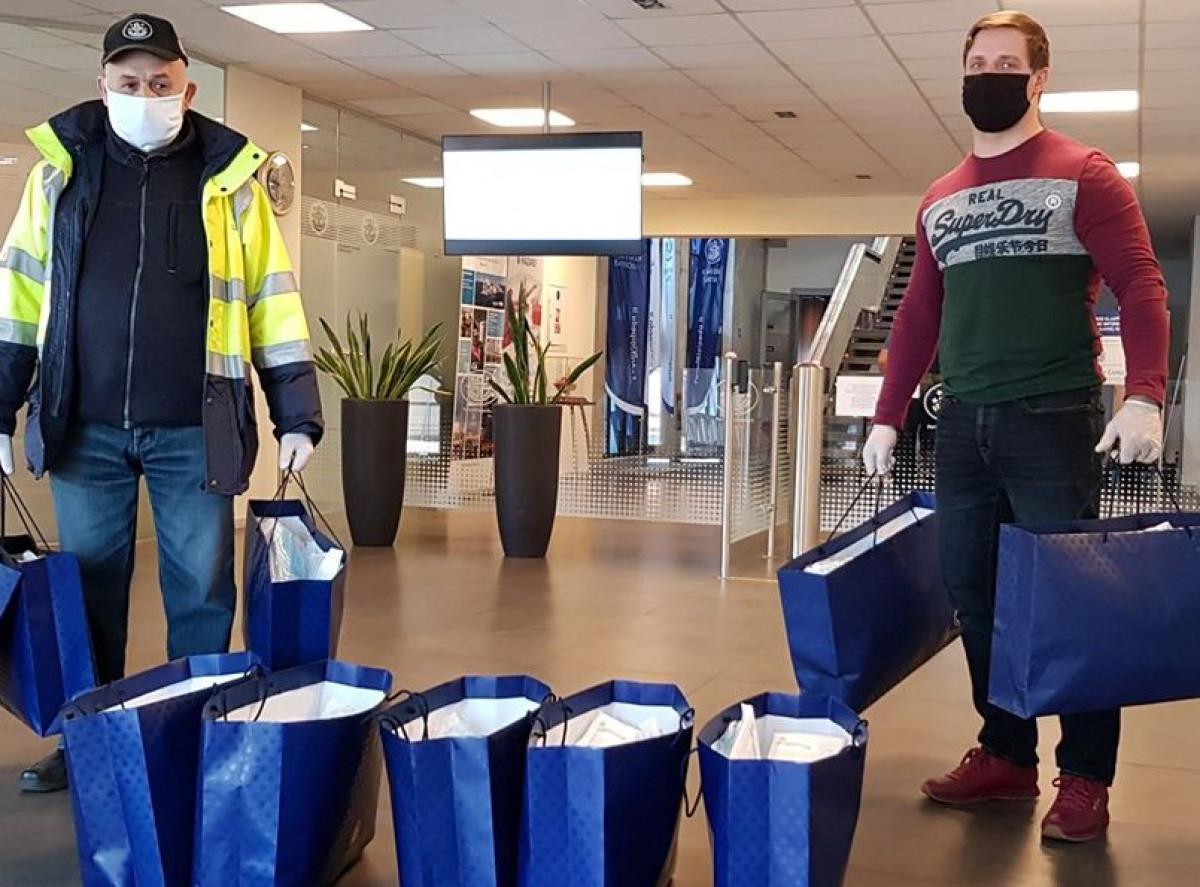 Klaipėdos uostas padovanojo kelis tūkstančius apsauginių kaukių miesto medikams