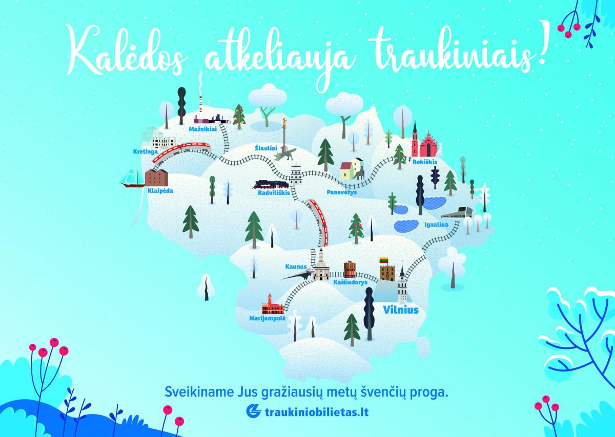 Kalėdos atkeliauja traukiniais: interaktyvus žaidimas