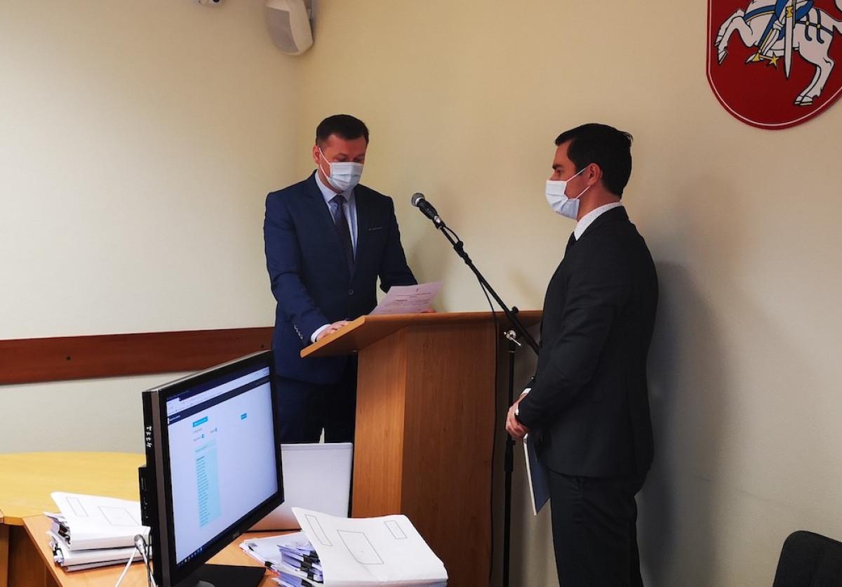 Prisiekė ir dirbti Kretingos rajono savivaldybės taryboje pradėjo Tomas Abelkis