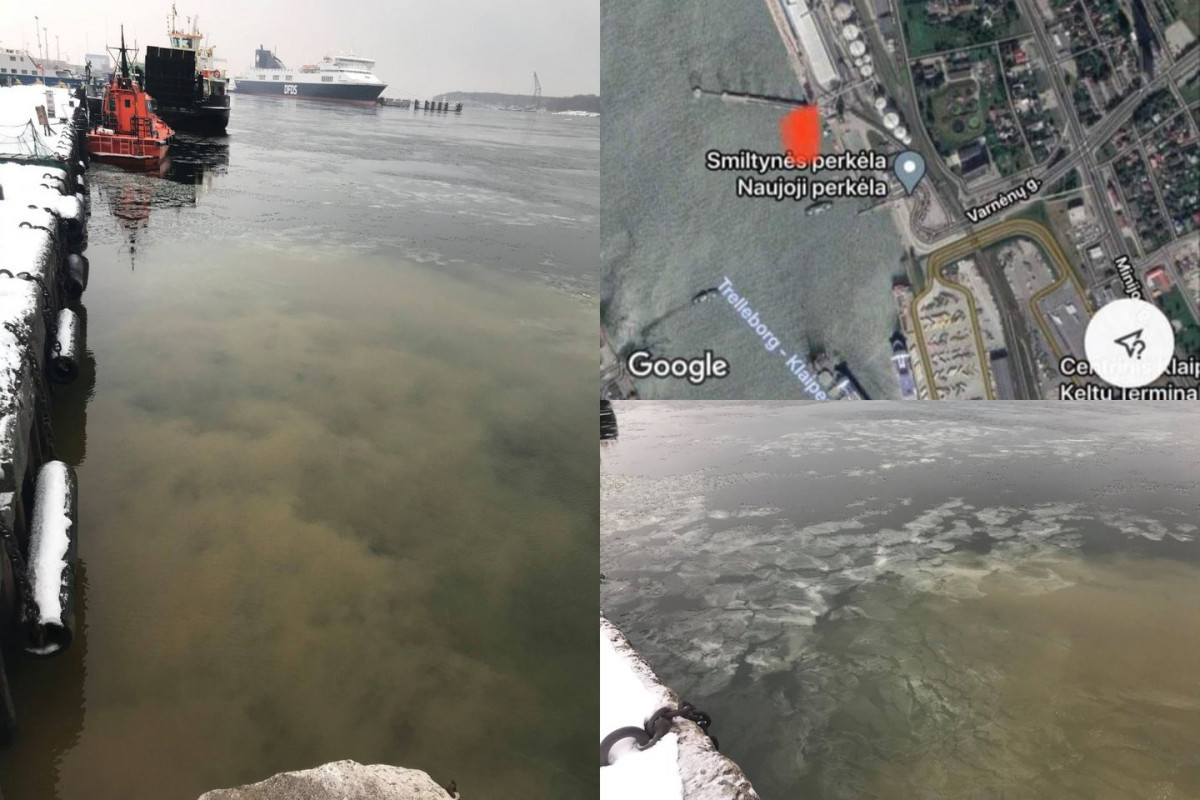 Baigtas tyrimas: Kuršių marias ties Smiltynės perkėla teršė dvi įmonės