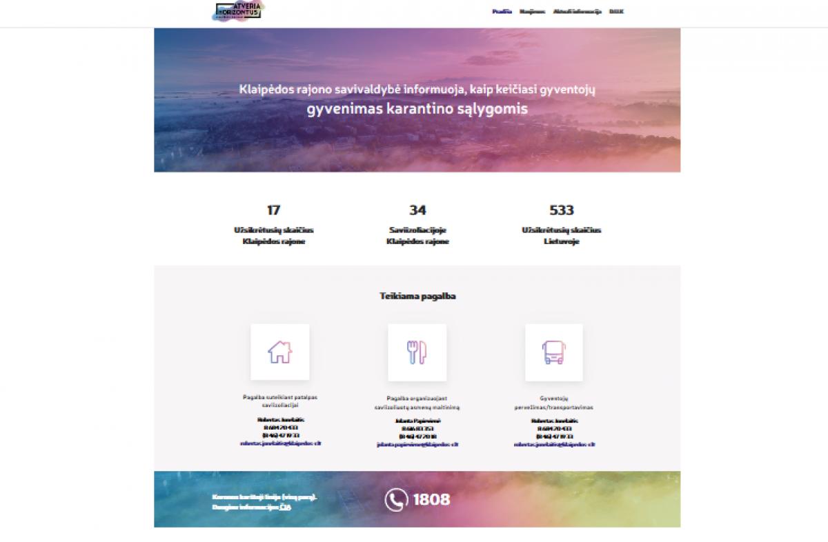 Klaipėdos rajono gyventojams – atskiras tinklalapis apie koronavirusą