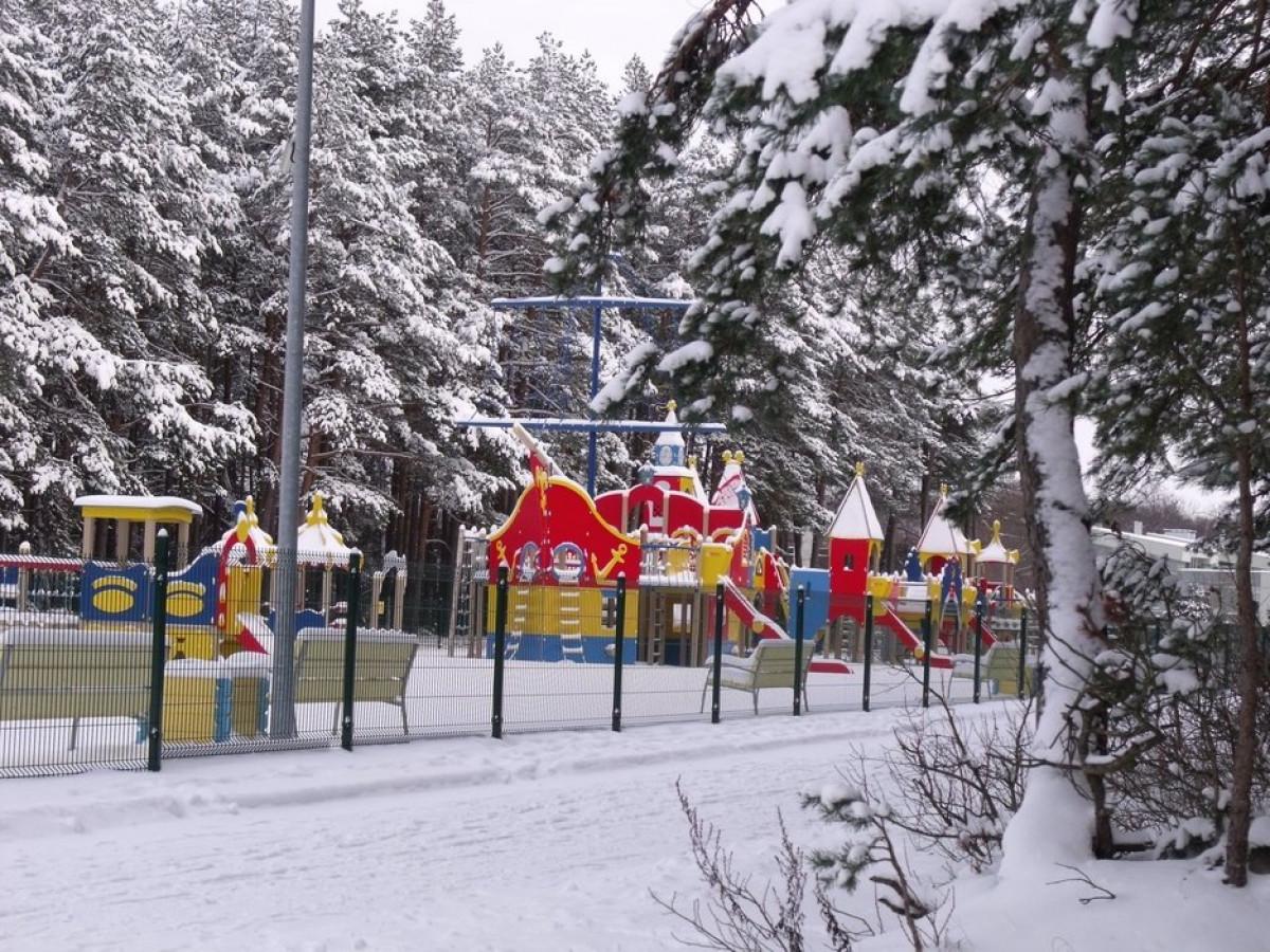 Žiemos sezono metu Vaikų parkas Palangoje nedirba