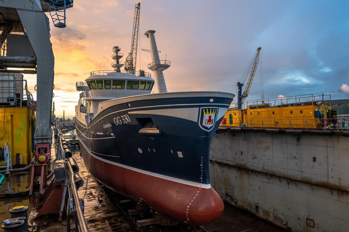 Vakarų Baltijos laivų statykloje statomas dar vienas žvejybinis traleris