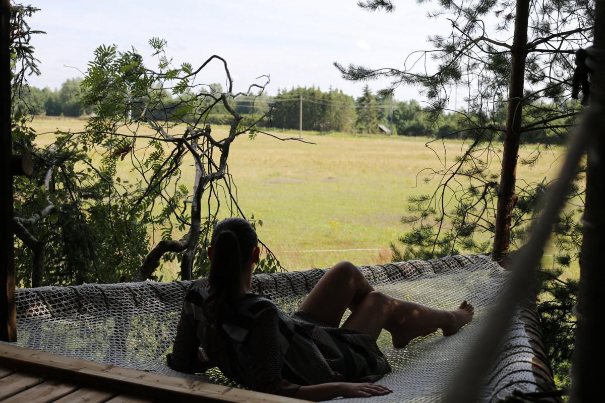 Kretingos rajono turizmo naujiena: išbandykite nakvynę 3,5 metrų aukštyje