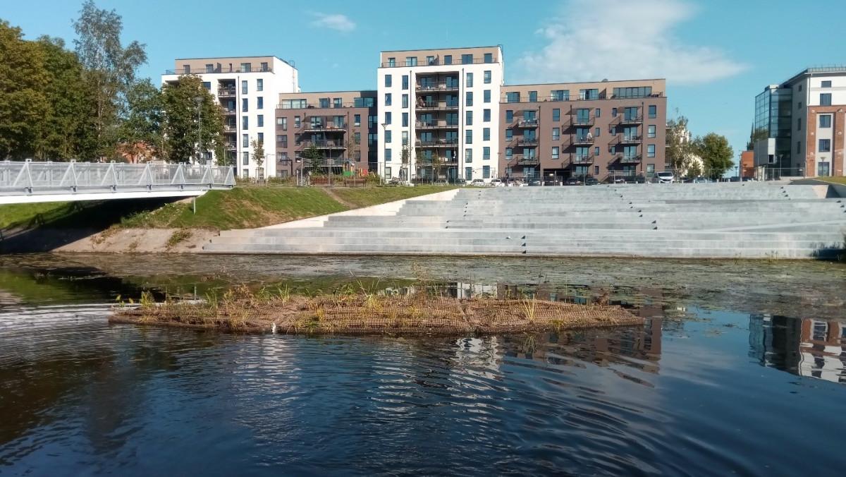 Tęsiamas dirbtinės plaukiojančios salos eksperimentas Klaipėdoje