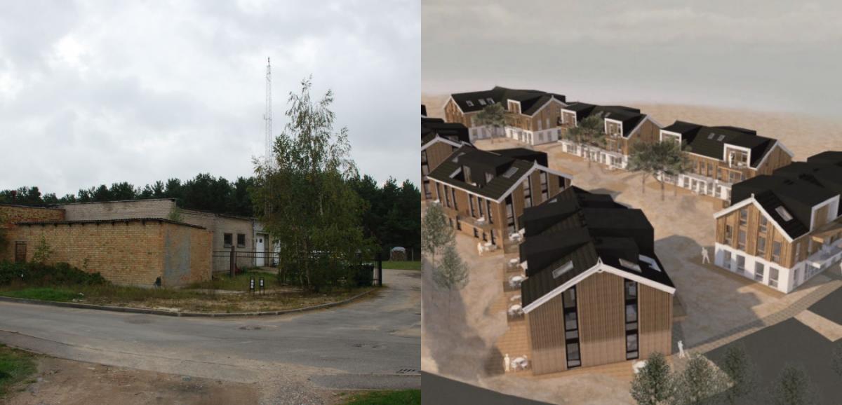 Statybos darbai Nidos šiaurinėje komunalinėje zonoje