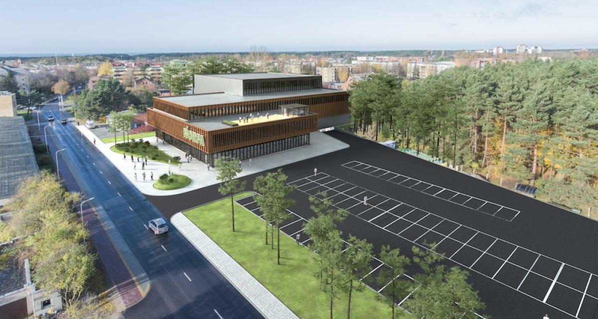 """Palangos miesto centrinėje dalyje statys prekybos centrą """"Norfa"""" su teniso korto aikštelėmis"""