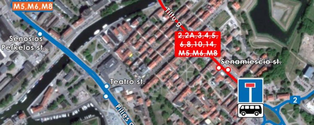 Per Užgavėnes Klaipėdoje reikės aplenkti Tiltų gatvę