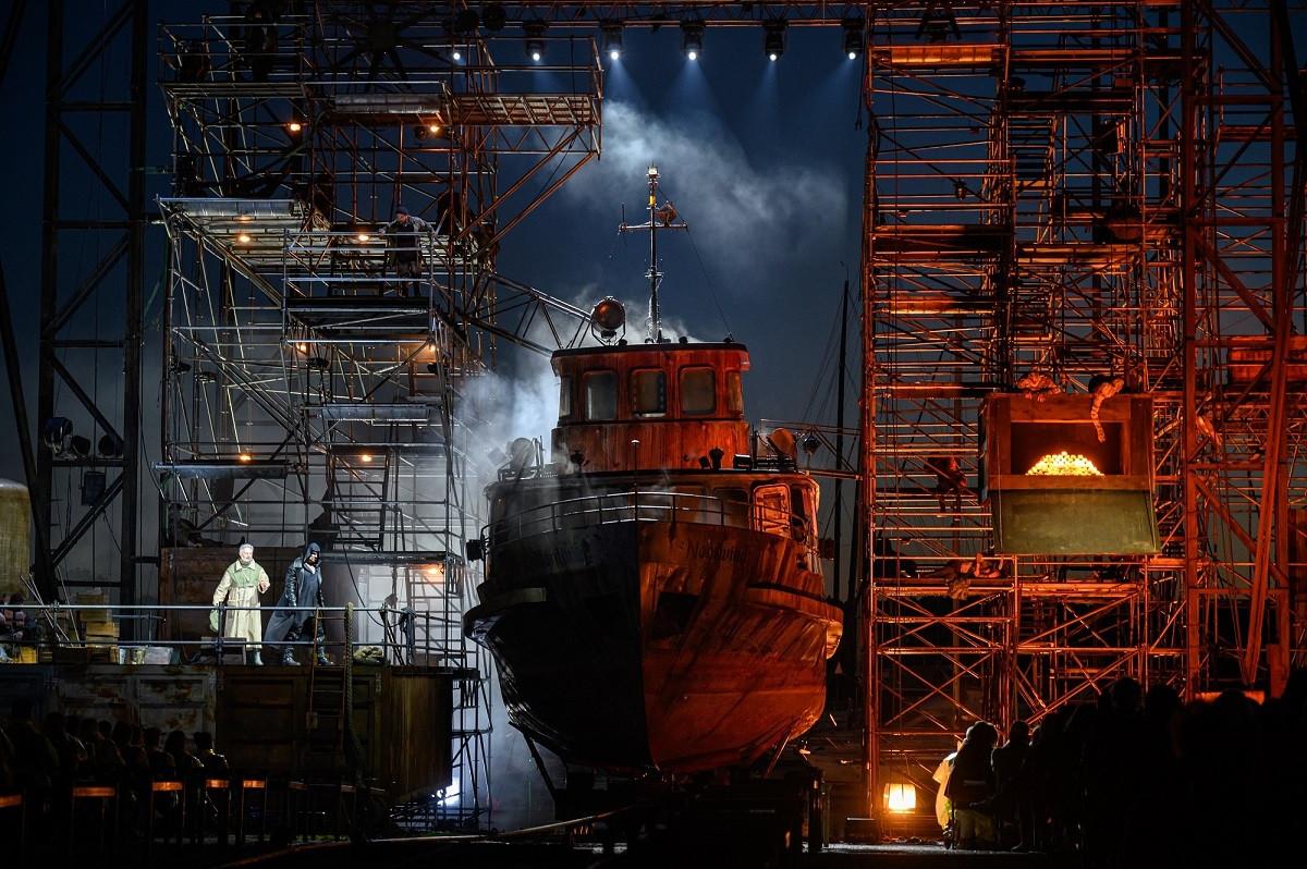 """""""Skrajojančio olando"""" laivas grimuojamas antram dubliui elingo scenoje"""