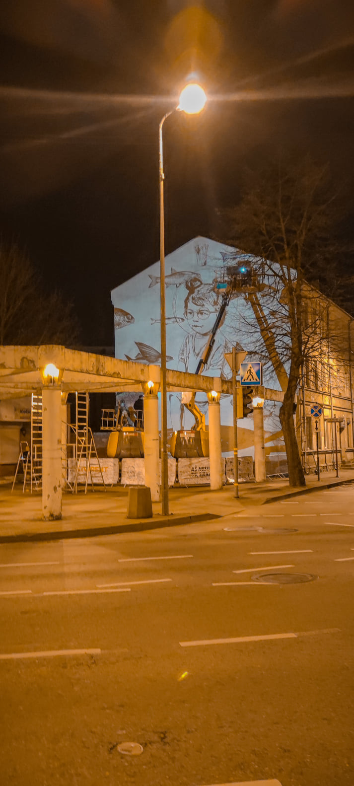 gatvės menas siena Klaipėda janonio gatvė grafitti vreators 76