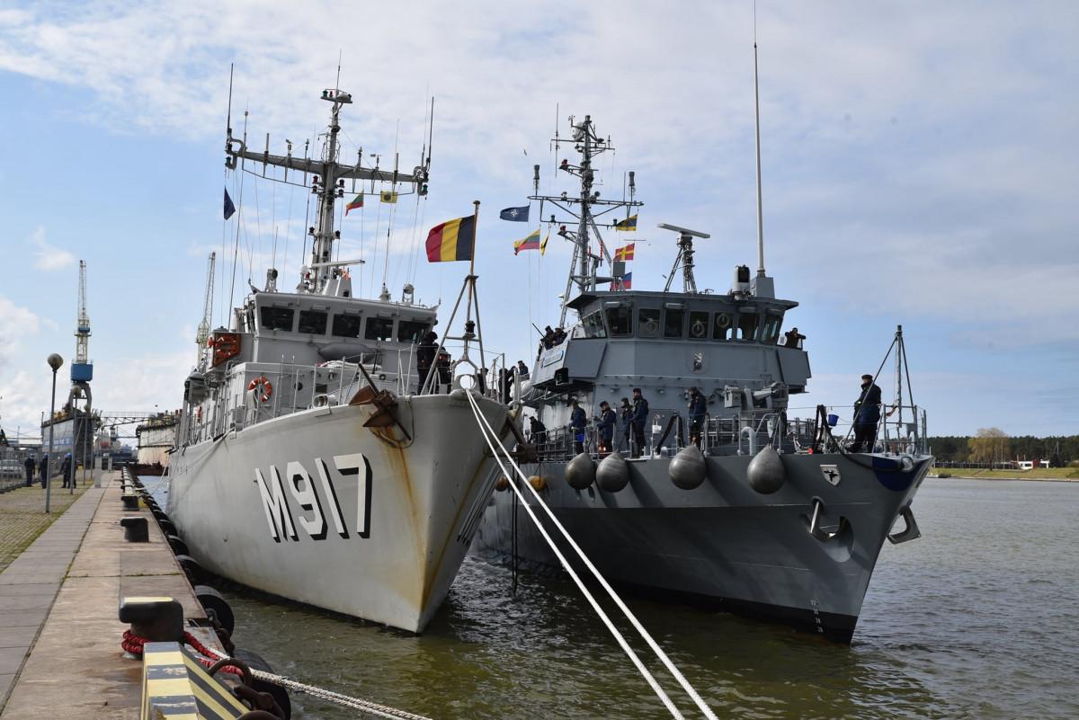 nato kariniai laivai priešmininiai