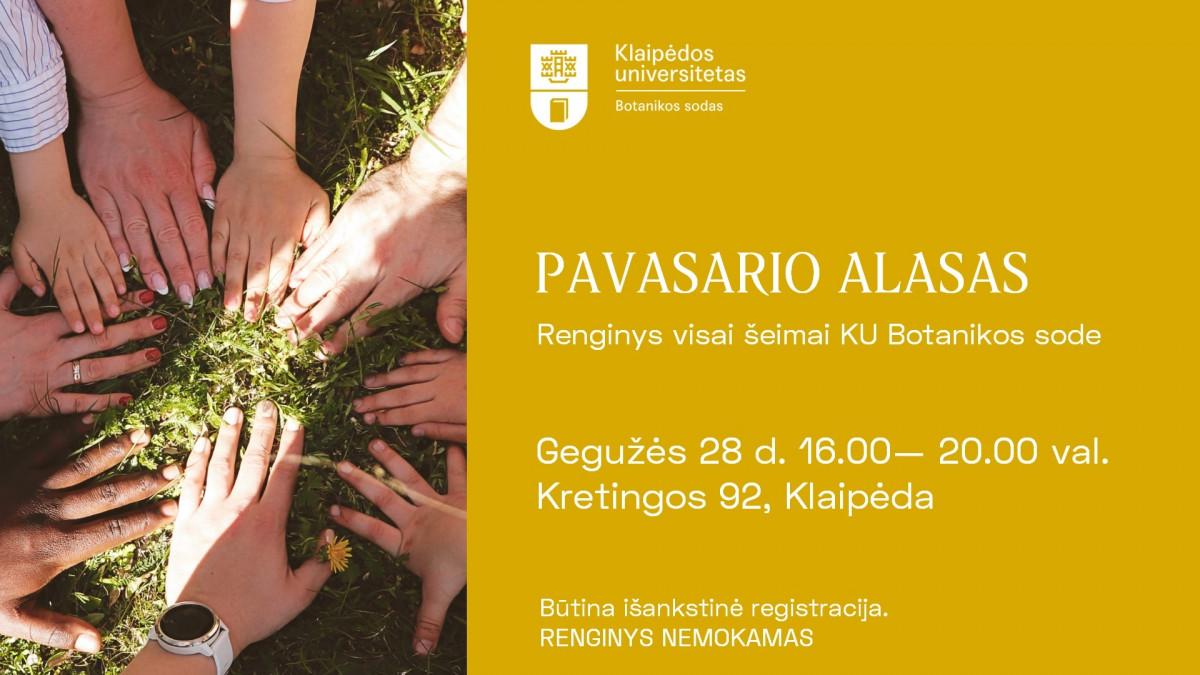 KU botanikos sodas renginys šeimai Klaipėda