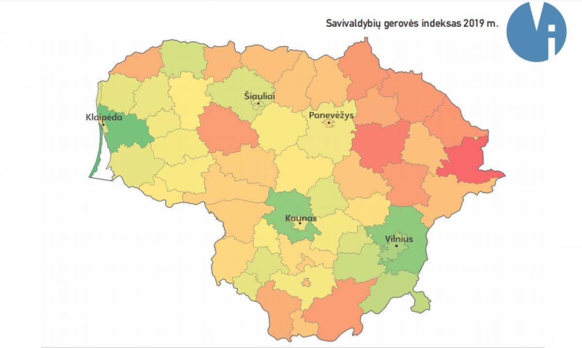 2019 Savivaldybių gerovės indekse - Klaipėda ir Neringa tarp lyderių