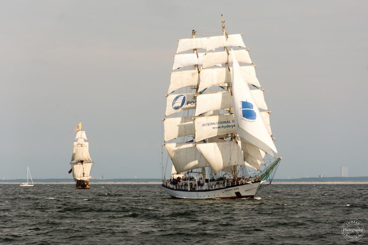"""Dviems Prancūzijos burlaiviams atšaukus dalyvavimą, Klaipėdą savo kryptimi pasirinko 44 """"The Tall Ships Races"""" laivai"""
