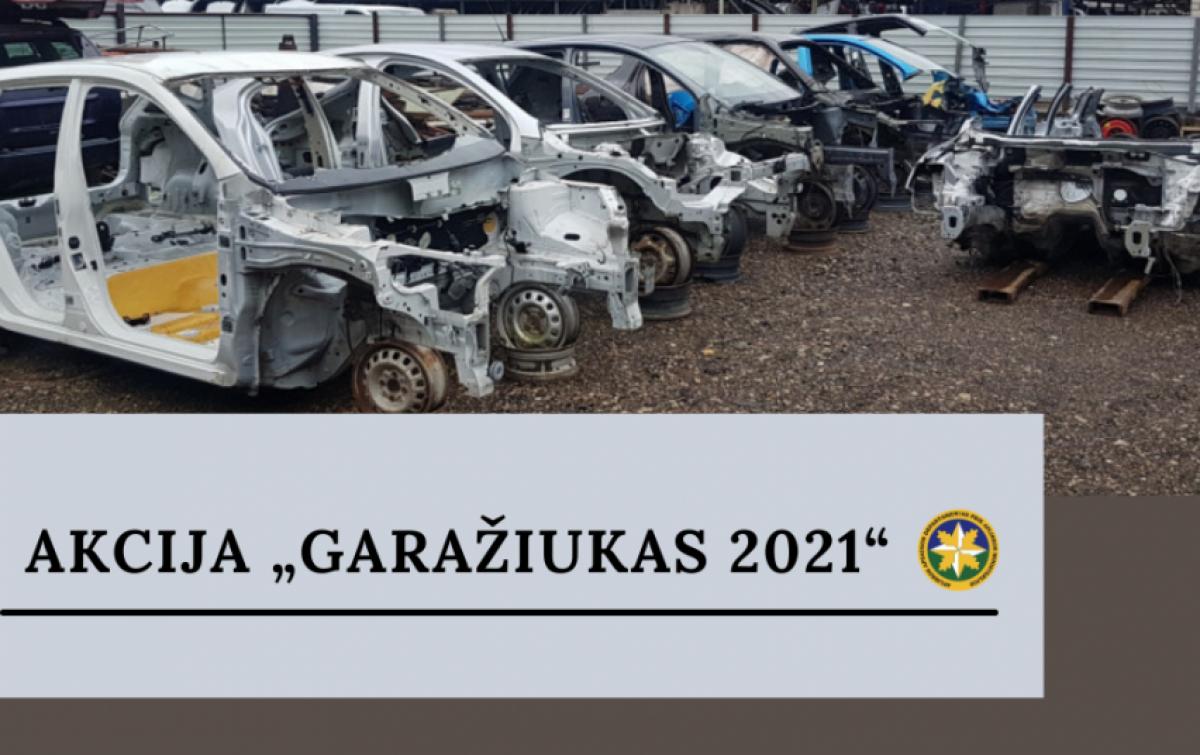 """Balandžio 1-ąją aplinkosaugininkai pradeda akciją """"Garažiukas 2021"""""""