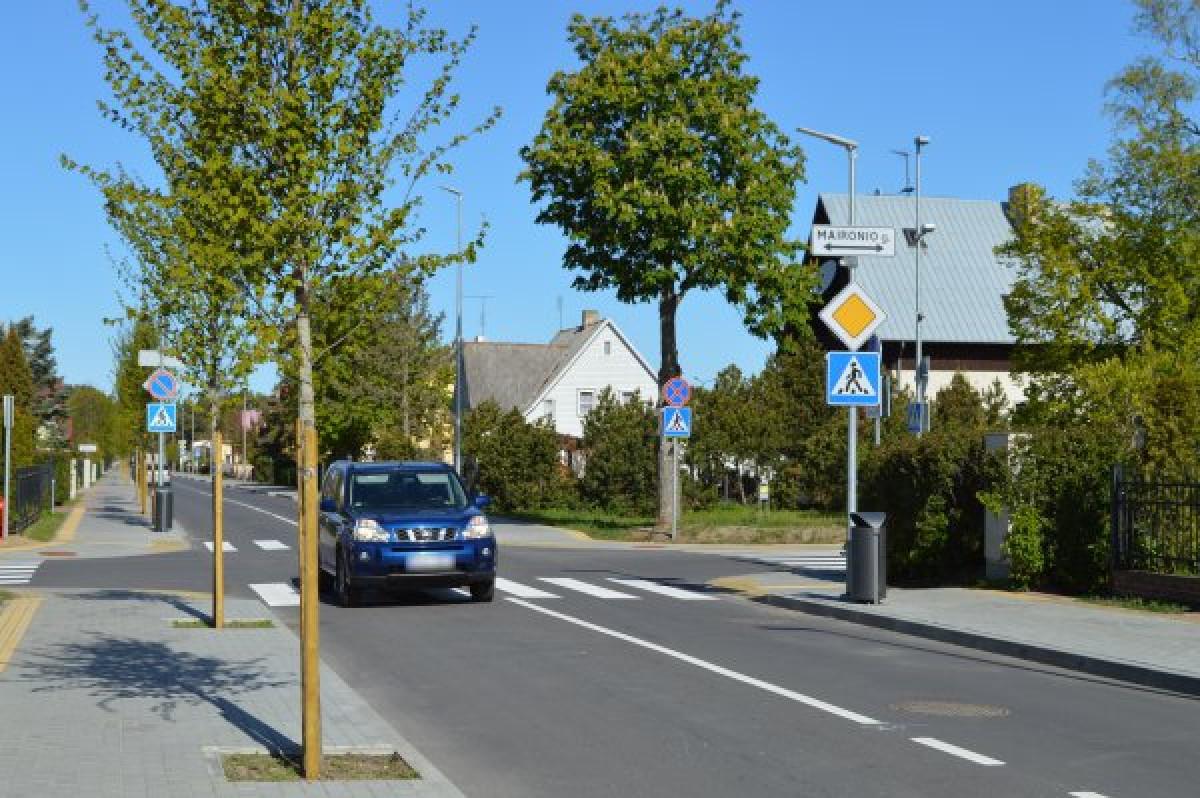 Palangoje atnaujinta Kastyčio gatvė