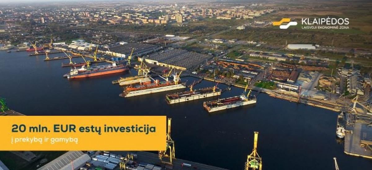 Klaipėdos LEZ užtikrino 20mln. eurų investiciją